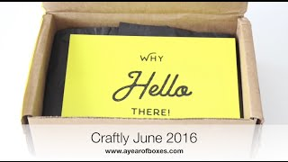 Craftly Unboxing June 2016