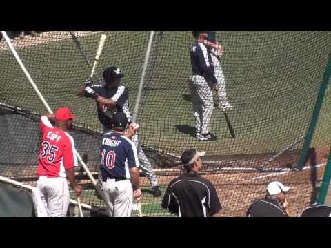 Cameron Gallagher hits in the batting cage during a 2010 Aflac All-American practice session held at USD's Cunningham Stadium. The 6-foot-3, 215 pound catche...
