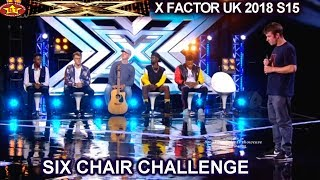 1st Six Chairs Boys Russell Grisdale Cotton Martins Sean Ludford 6 Chair Challenge X Factor UK 2018