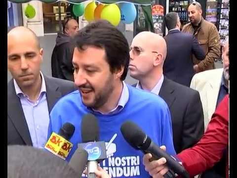 LEGA NORD - SALVINI A ROMA, SEI REFERENDUM PER CAMBIARE L'ITALIA
