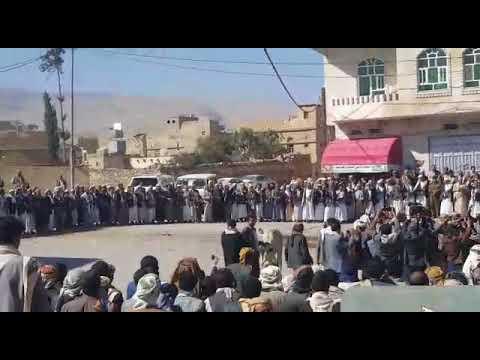 فيديو: قبائل عمران تنتفض ضد شعار الصرخة وتهتف بالروح بالدم نفديك يايمن