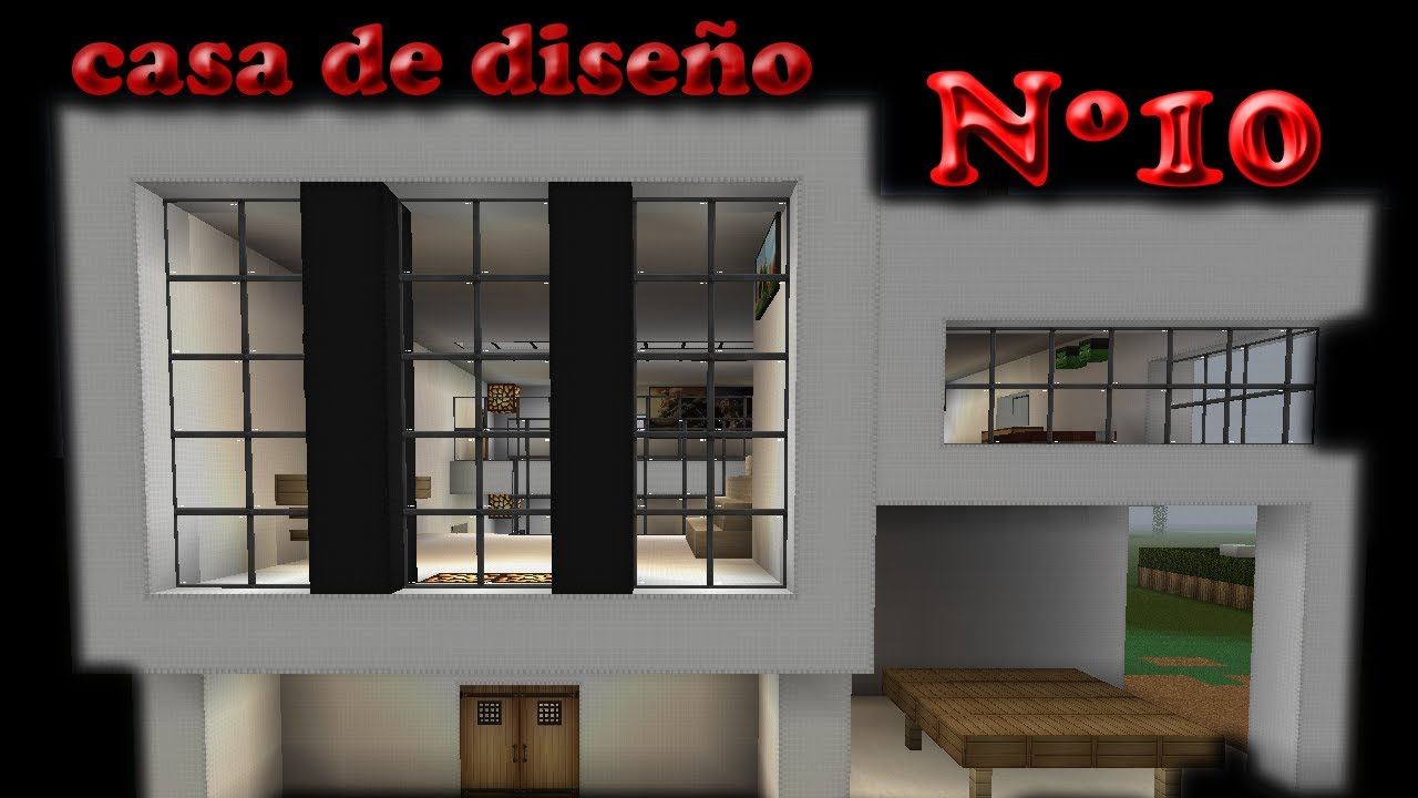 Minecraft casa de dise o design house n 10 youtube Disenos de casas minecraft