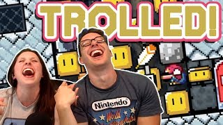 Someone Made My Wife A Mario Maker TROLL Level And It's Hilarious!!