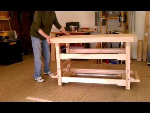 workbench plans wheels