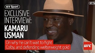 """I heard he's not that good with money"" Kamaru Usman goes in on Colby Covington"