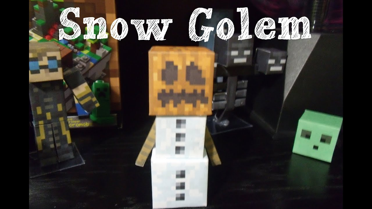 Minecraft Mutant Snow Golem Papercraft Papercraft Minecraft Snow