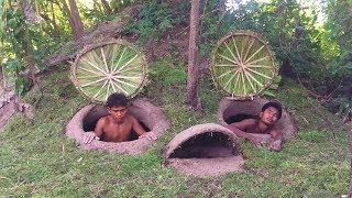 Build underground hidden house in deep forest