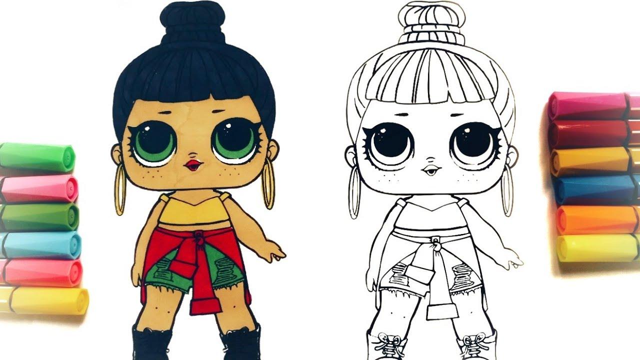 Раскраски куклы lol 149