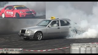 Mercedes W124 Turbo TAXI 300E 600HP Diesel Drift & W212 LS1 Procharger 900HP