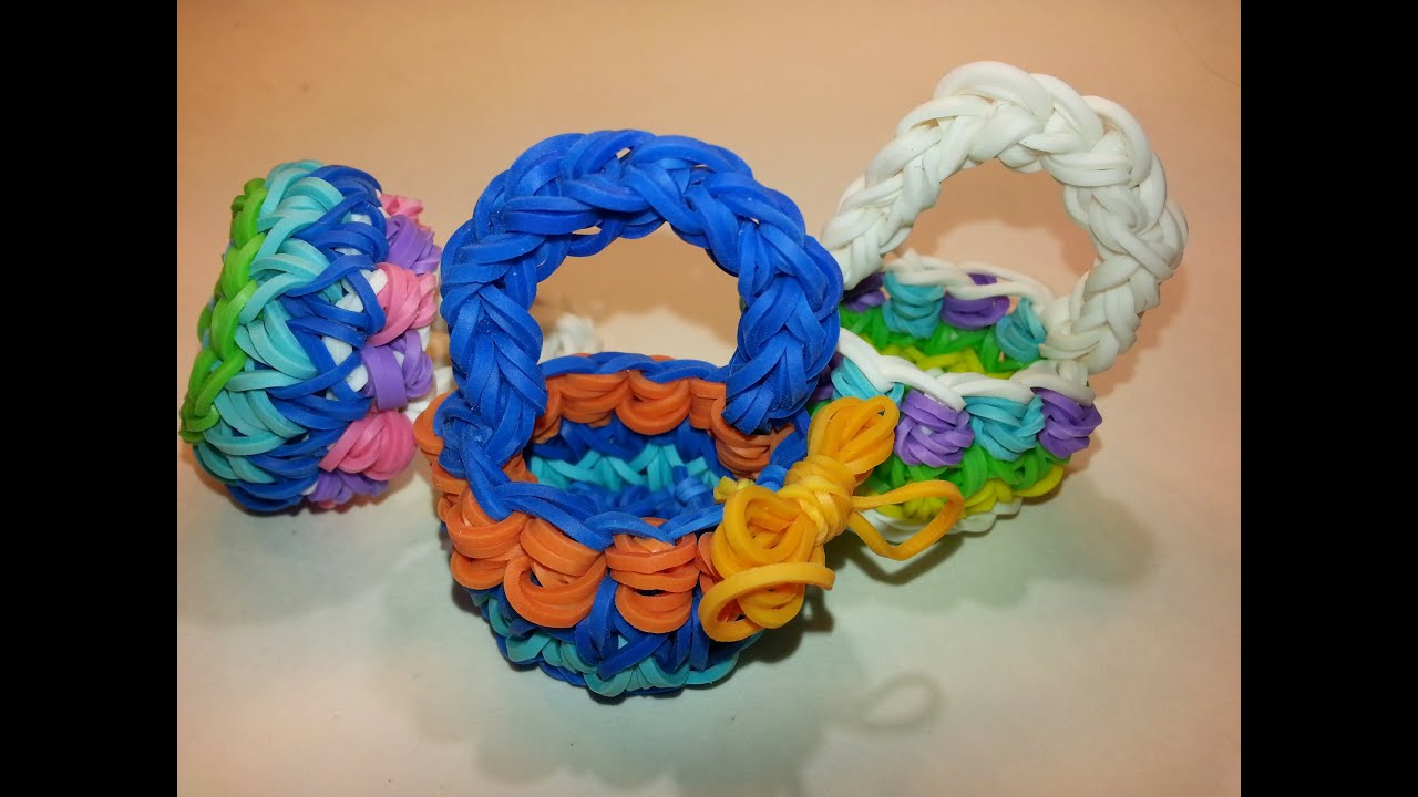 How To Make The Basket Weave Rainbow Loom : Decorative basket tutorial by feelinspiffy rainbow loom
