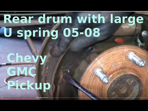 How To Install Replace Rear Drum Brakes    Chevy    GMC Pickup