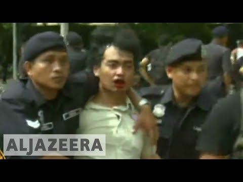Al Jazeera crew's camera 'busted by Malaysian police' at rally