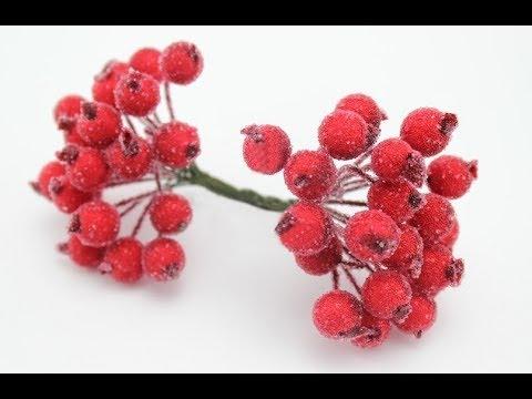Сахарные ягоды для рукоделия своими руками 74