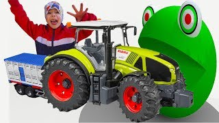 Kids PRETEND PLAY with Cars and PAC MAN in real life Ride on Power Wheels Toys