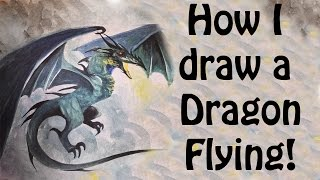 Art ala carte viyoutube how i draw a dragon flying ccuart Choice Image