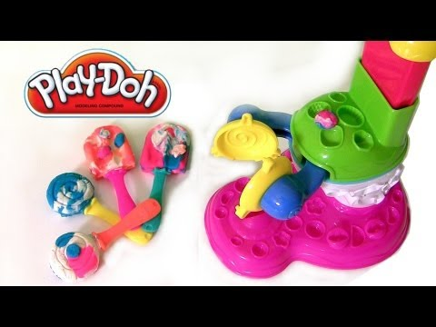 Play Doh Perfect Pop Maker Playset Sweet Shoppe Cafe Lollipops & Popsicles Review by Disneycollector