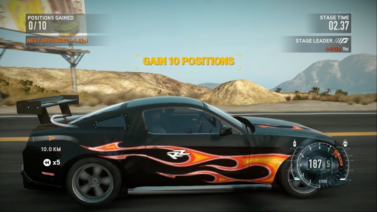 Need For Speed The Run Mod Razor Mustang Teste Drive