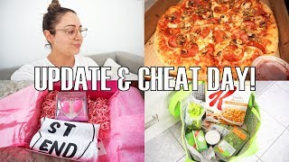 VLOG - Cheat Day, Health Update, Groceries & New Recipe!