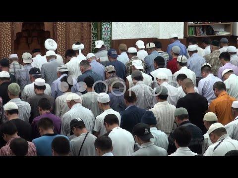Imam, prayer, muslim, mosque, religion, Bishkek, Kyrgyzstan. Stock Footage