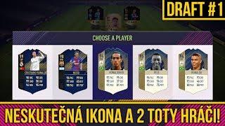 2 TOTY HRÁČI A NESKUTEČNÁ IKONA! FUT DRAFT #1   FIFA 18 CZ