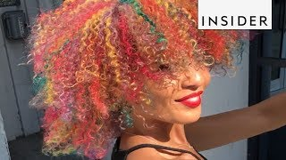 Flawless Rainbow Curls