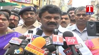 Minister Talasani Srinivas Yadav Inspects Bonalu Zatara Arrangements at Secunderabad  live