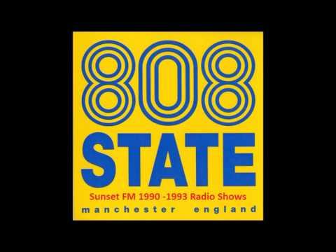#1 808 State Radio Show @ Sunset FM, Manchester, UK, 1990 04 03