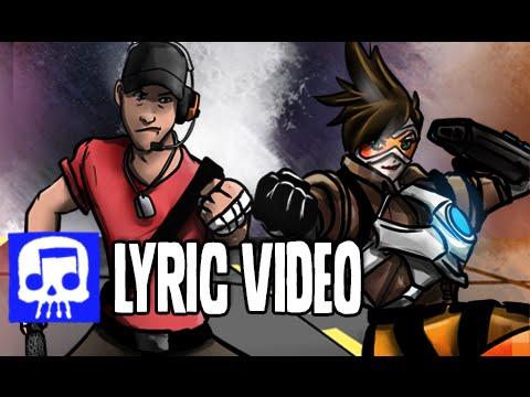 TRACER VS SCOUT Rap Battle LYRIC VIDEO by JT Music