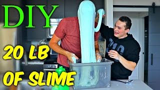 20 LB of Slime - DIY Giant Slime