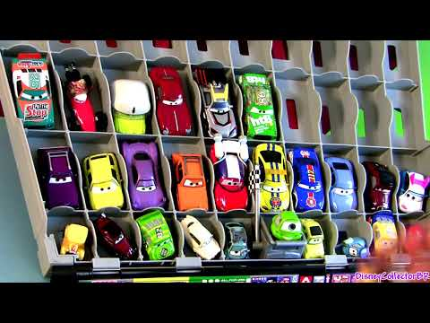 Cars 2 Fan Stands Play n Display Storage Case Stores 40 CARS Disney Pixar car-toys Disneycollector