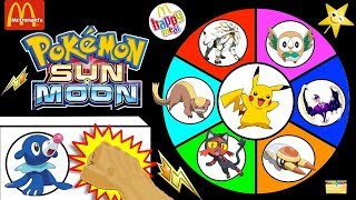 Pokemon Sun & Moon Spinning Wheel Game | NEW POWER ACTION PIKACHU Plush | Happy Meal Toys