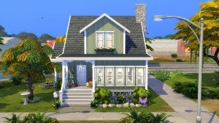 The Sims 4: Speed Build // CUTE SMALL FAMILY HOME // NO CC