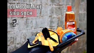 Hướng dẫn rửa xe máy siêu sạch tại nhà | Bộ dụng cụ rửa xe máy chuyên nghiệp