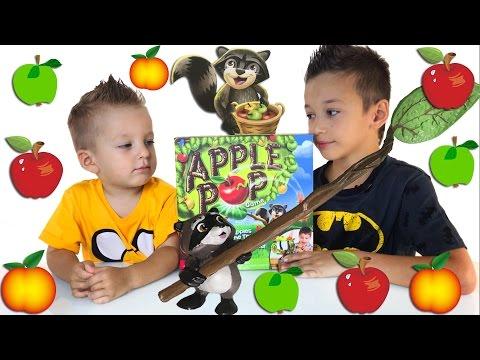 Сбиваем яблоки Игры Для Детей Распаковка Family Fun Game Night for Kids Apple Pop Game