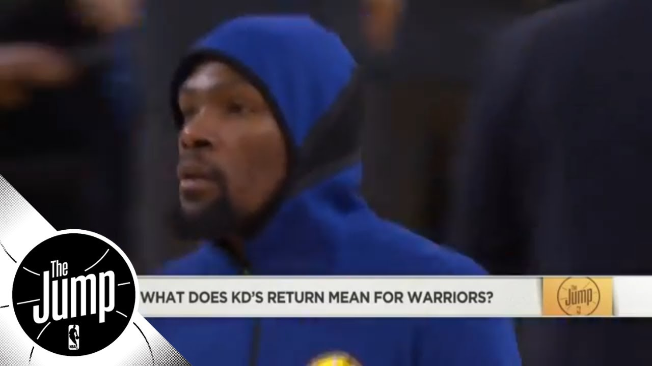 What does Kevin Durant's return mean for Warriors before playoffs? | The Jump | ESPN