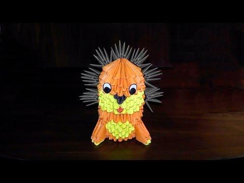 Модульное оригами льва схема