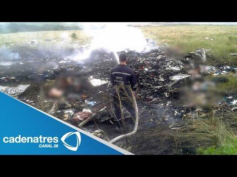 Derribo del avión de Malaysia Airline sobre Ucrania deja casi 300 muertos