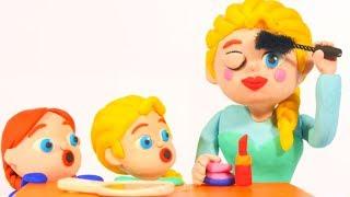 FROZEN ELSA NEW MAKE UP ❤ Spiderman, Hulk & Frozen Elsa Play Doh Cartoons For Kids