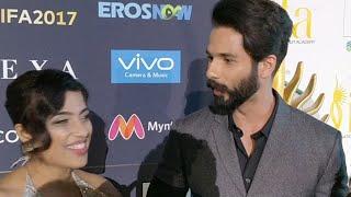 IIFA Awards 2017 Shahid Kapoor & Meera Kapoor at Red Carpet