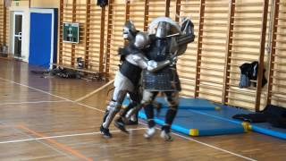 Grunwald Academy of Sword, Olsztynek Camp, Day 2, Knights trening with armour, 07/03/2014
