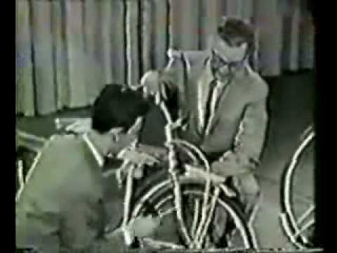 Steve Allen show, Frank Zappa Playing music on a Bicycle 1963