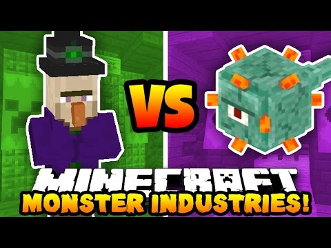 Minecraft MONSTER INDUSTRIES! (Witches VS Guardians!) | w/PrestonPlayz & Lachlan