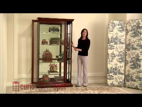 Pulaski model 20542 curio cabinet youtube for Curio cabinet spot
