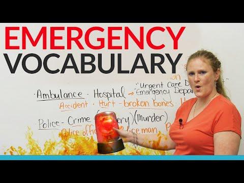 EMERGENCY Vocabulary in English