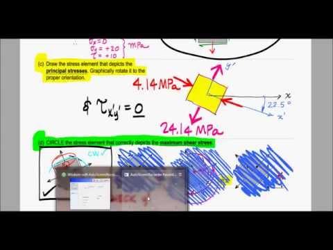 Mechanics of Materials - Exam 3 Solution - S13 - 1 of 1