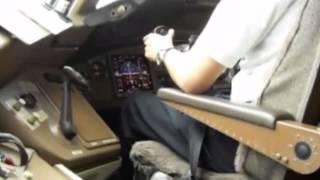 Boeing Cockpit Action - Landing