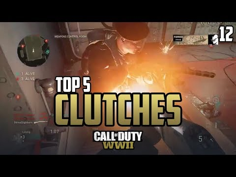 COD WWII: TOP 5 CLUTCHES OF THE WEEK #12 - Call of Duty World War 2