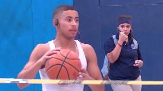 Julian Newman Pregame Ball Handling/Shooting Warmup Before HS Varsity Game