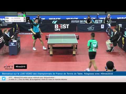 Alexandre Cassin -Stéphane Ouaiche Championnat de France Tennis de table2016