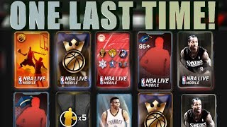 MASSIVE LAST VARIETY PACK OPENING OF NBA LIVE MOBILE SEASON 1! 96+ PULLS! NBA LIVE MOBILE SEASON 2